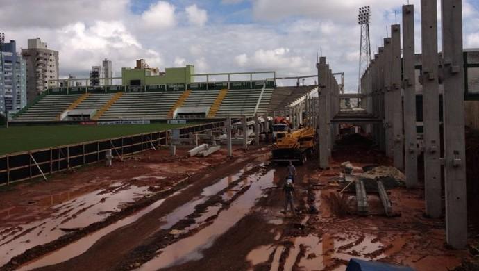 chapecoense índio condá (Foto: Eduardo Cristófoli/RBS TV)