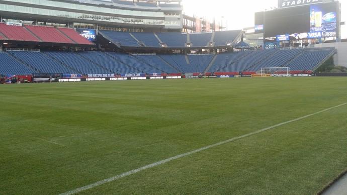 Gramado estádio de Boston Seleção (Foto: Márcio Iannacca / GloboEsporte.com)