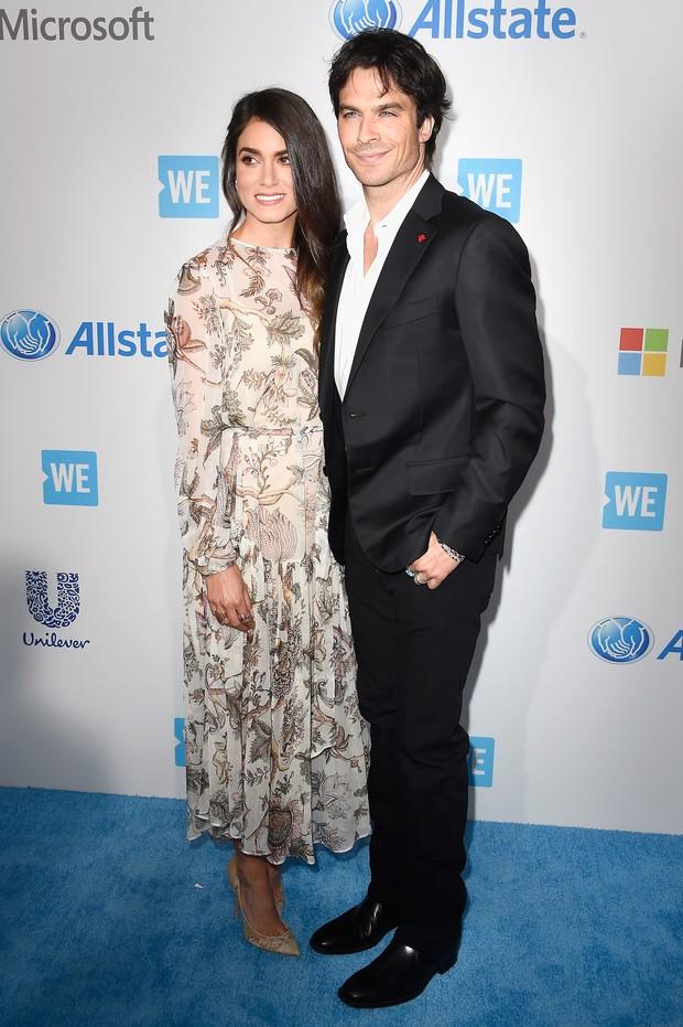 Nikki Reed e Ian Somerhalder (Foto: AFP)