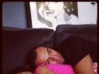 Denilson posta foto fofa com a filha Maria Eduarda