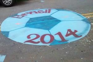 Rua do Taboão (SP)  decorada para o mundial (Foto: Arquivo Pessoal)