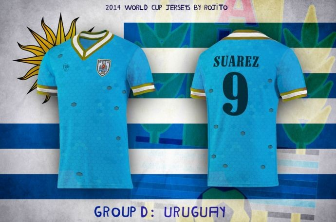 Blog da Copa - design camisa do Uruguai