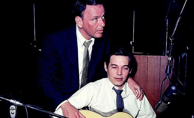 Tom Jobim e Frank Sinatra, em foto de arquivo da revista Manchete (Foto: Divulgação)
