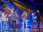Daniel, Kim Lírio, Luiza Possi e Flausino cantam juntos na Final do The Voice