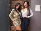 Andressa Ferreira posa com Gretchen: 'Que sogra que eu tenho'