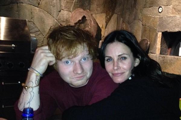 Ed Sheeran e Courteney Cox (Foto: Reprodução/Instagram)