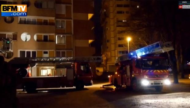 Três irmãs morreram em incêndio em França (Foto: Reprodução/YouTube/BFMTV)