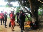 Em Três Marias, bombeiros resgatam corpo de homem que caiu de barco