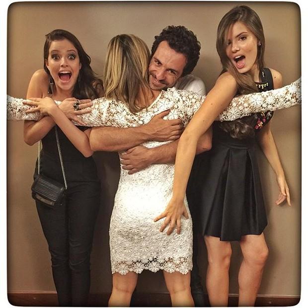 Camila Queiroz, Rodrigo Lombardi, Agatha Moreira e Guilhermina Guinle (Foto: Reprodução/Instagram)