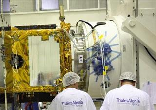 satélite brasileiro (Foto: Thales Alenia/Divulgação)
