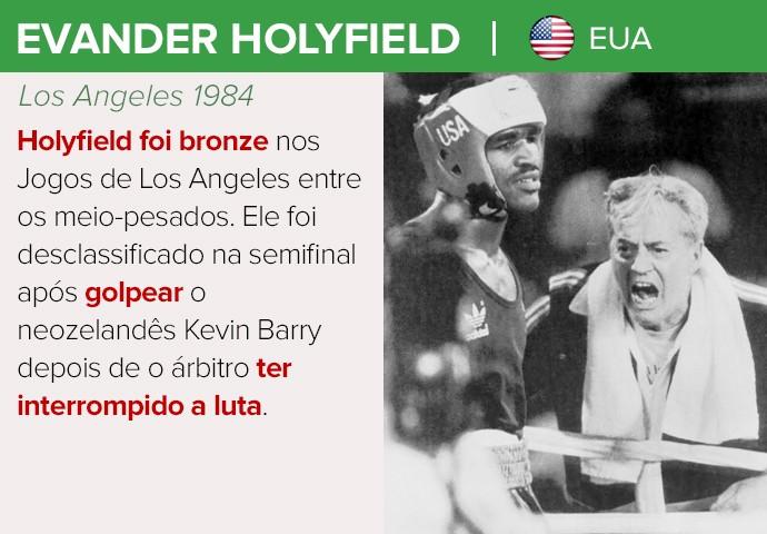 Evander Holyfield, cartela lendas do boxe (Foto: GloboEsporte.com)