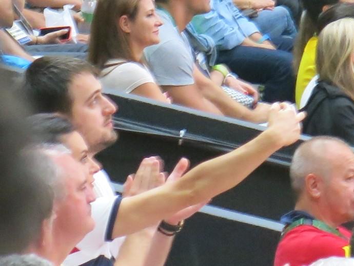 Yelena Isinbayeva jogo vôlei Brasil x Rússia semifinal rio 2016 selfie (Foto: Edgard Maciel de Sá)