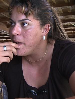 FRAME Entrevista Rebeca Gusmão  (Foto: reprodução Rede Globo)