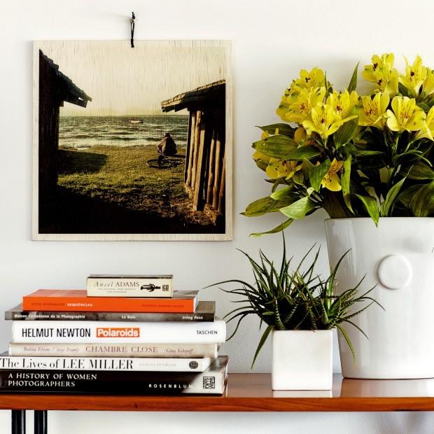 Quadro do Estúdio Turquesa, com foto de Alan Nielsen impressa em madeira, 30 x 30 cm (Foto: Divulgação)