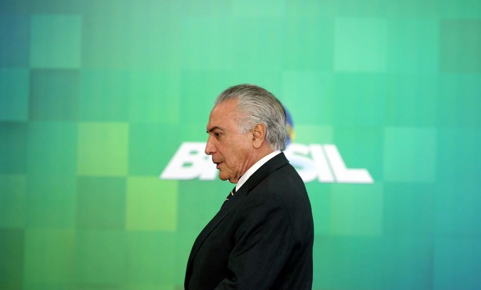 o presidente Michel Temer (Foto: Reuters/Adriano Machado)