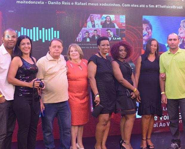 Eles conheceram os bastidores da Grande Final e assistiram às apresentações em lugar privilegiado (Foto: Divulgação/GShow/TV Globo)