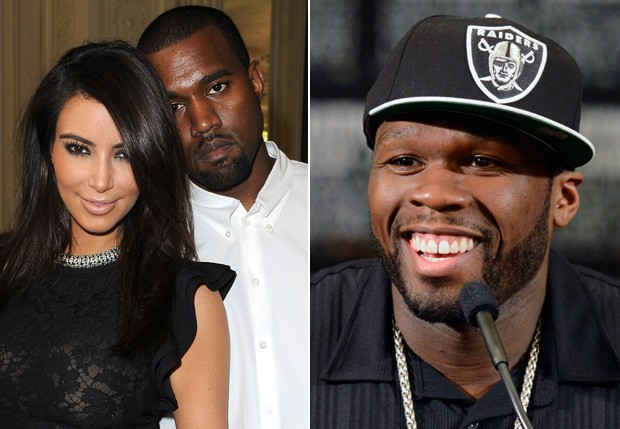 50 Cent critica o namoro de Kanye West com Kim Kardashian (Foto: Fotos: Getty Images)