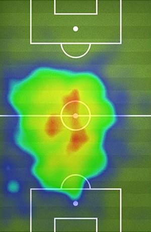 mapa de calor Messi final Copa do Mundo (Foto: Reprodução)
