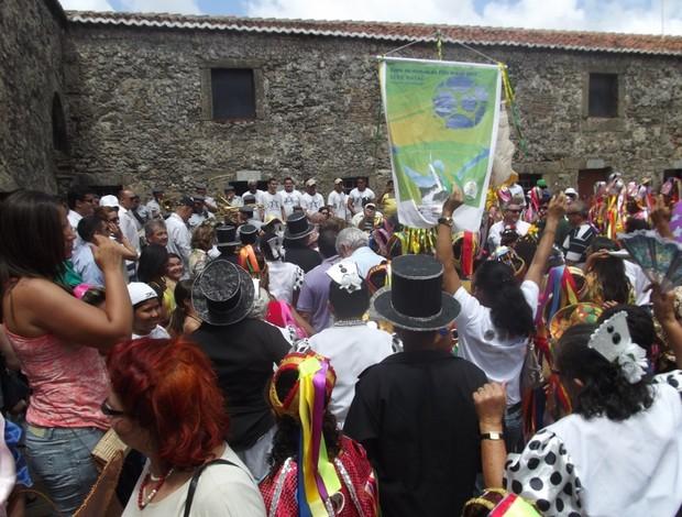 Cerimônia de lançamento aconteceu na Fortaleza dos Reis Magos (Foto: Matheus Magalhães/GLOBOESPORTE.COM)