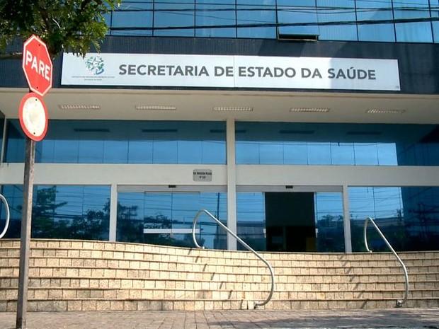 Secretaria de Saúde do Espírito Santo (Foto: Reprodução/ TV Gazeta)