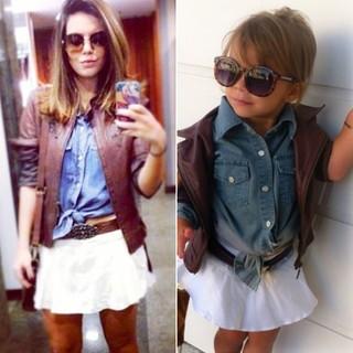 MODA - Mãe se inspira nas famosas para looks da filha (Foto  Instagram   a8bc0ea6a06