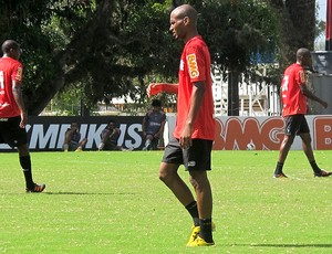 Wellington Silva no treino do Flamengo (Foto: Richard Souza / Globoesporte.com)
