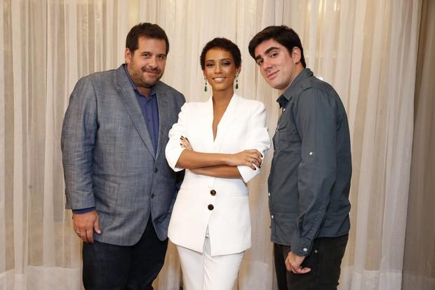 Leandro Hassun, Taís Araújo e Marcelo Adnet (Foto: Felipe Panfili / AgNews)