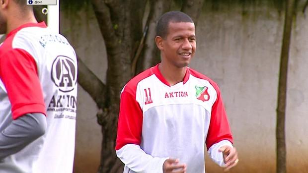 Reginaldo. atacante do Velo Clube (Foto: Reprodução / EPTV)
