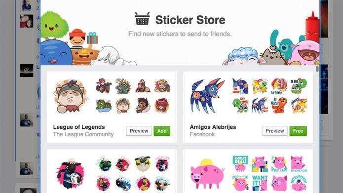 Selecione os stickers de LoL na loja (Foto: Reprodução/Felipe Vinha)