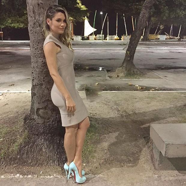 Flávia Alessandra em Maceió, em Alagoas (Foto: Instagram/ Reprodução)