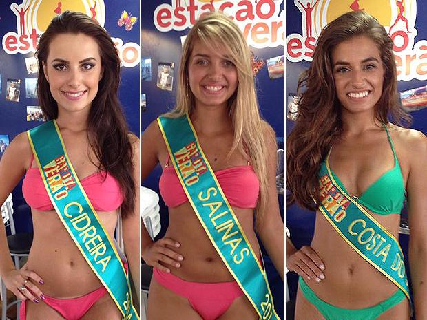 Bruna Adams, Larissa Tonheca e Sabrina Scherer (Foto: Montagem sobre fotos de Marcelo Soes/Divulgação)