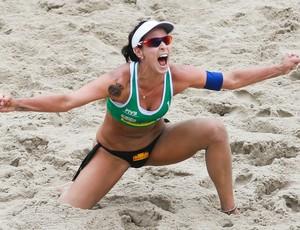 Agatha na final do Rio Open (Foto: Divulgação/FIVB)