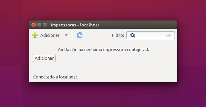 Adicionando nova impressora ao Ubuntu (Foto: Reprodução/Helito Bijora)