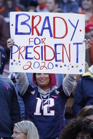 Fã pede Tom Brady para presidente (Foto: Getty Images)