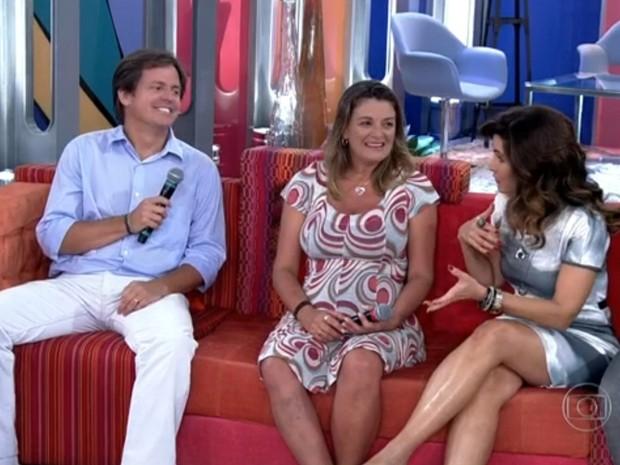 Casal que perdeu filhas em tragédia emociona Fátima Bernardes (Foto: Encontro com Fátima Bernardes/TV Globo)