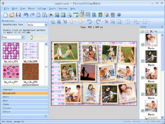 Faça molduras elegantes com este programa (Foto: Divulgação/Picture Collage Maker Free)