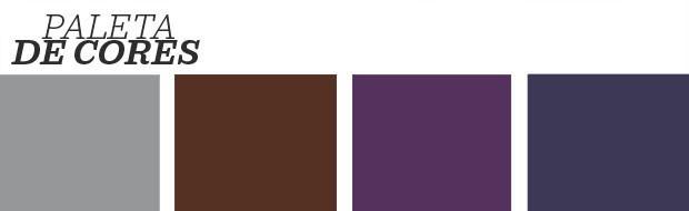Décor do dia: sala de estar mistura ultra violet e tons de cinza (Foto: Reprodução)