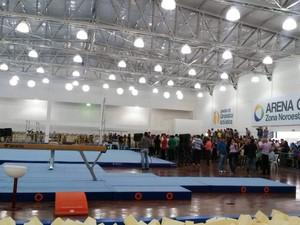 Nova arena de ginástica artística foi inaugurada na Zona Noroeste de Santos (Foto: Regiane Rossi/Arquivo Pessoal)