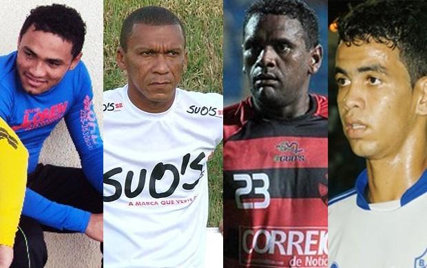 Kleber Pereira, Deivid, Jackson e Léo Paraíba entre Sampaio e Maranhão (Foto: Montagem/Globoesporte.com)