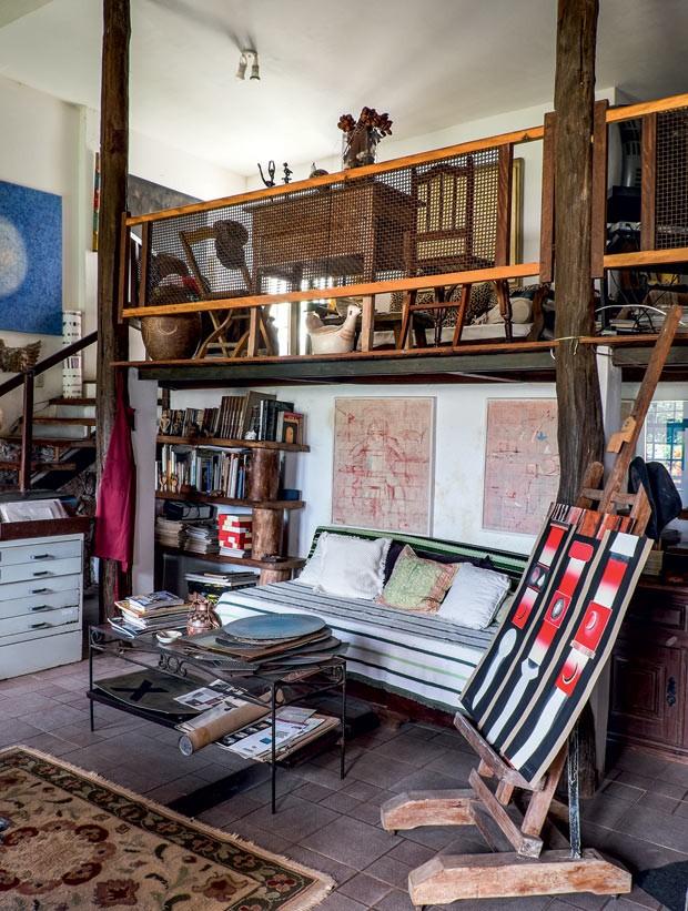 casa-sofa-madeira-quadro (Foto: Lufe Gomes/Life by Lufe)