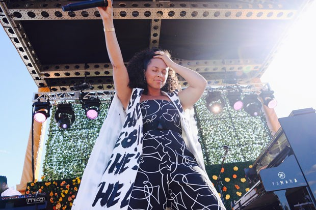 Alicia Keys comandou a parte musical do Veuve Clicquot Polo Classic (Foto: Getty Images/Divulgação Veuve Clicquot EUA)
