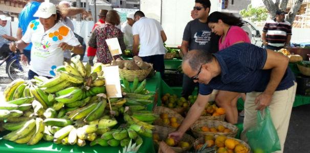 Grande variedade de frutas e verduras em todas as barracas  (Foto: Divulgação/ Marketing TV Gazeta)