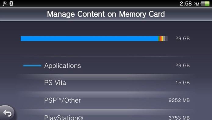 Aguarde até que o conteúdo do seu Memory Card seja analisado (Foto: Reprodução)