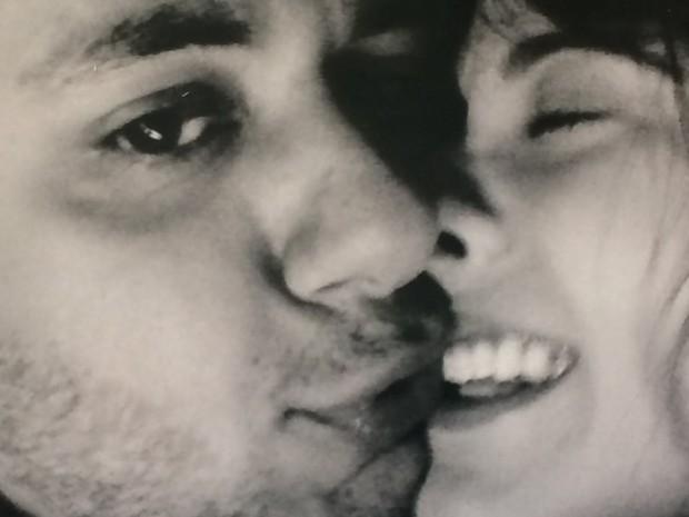 Cristiano Araújo e Allana Moraes, Goiânia, Goiás (Foto: Arquivo pessoal/ Miriam de Moraes)