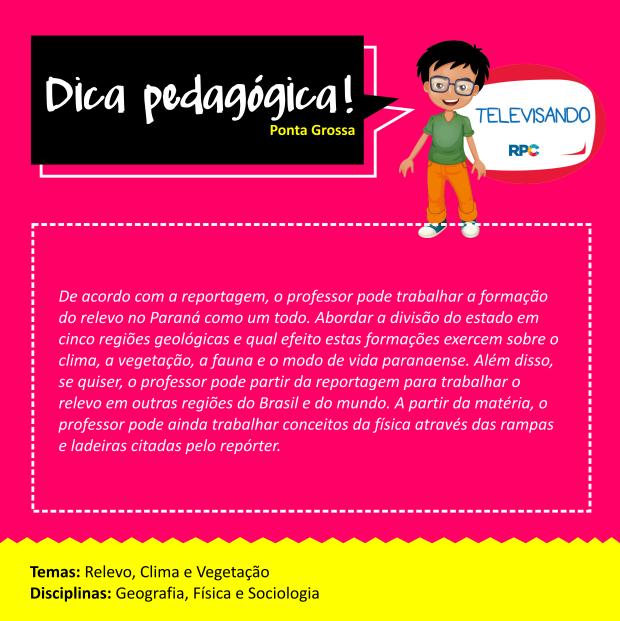 Dicas Pedagógicas - Ponta Grossa (SITE) (Foto: Divulgação/ RPC)
