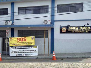 Greve da Polícia Federal em Divinópolis (Foto: Valquíria Souza / G1)
