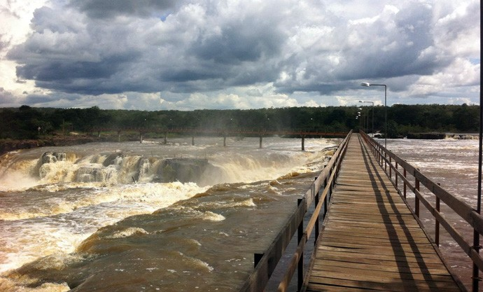 Cachoeira do Urubu em das belezas da cidade de Esperantina (Foto: Gshow/Rede Clube)