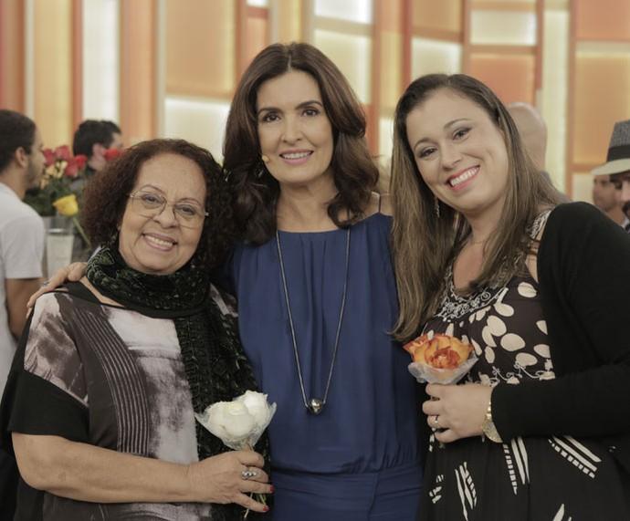 Fátima com convidadas do programa  (Foto: Ellen Soares/Gshow)