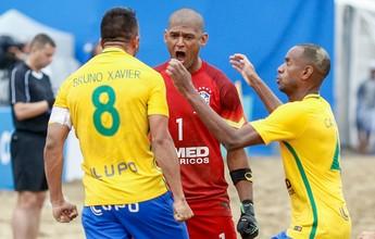 Brasil tem trabalho, mas bate o Japão nos pênaltis na estreia do Mundialito