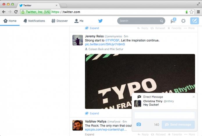 Janela de notificações será interativa (Reprodução/Twitter)